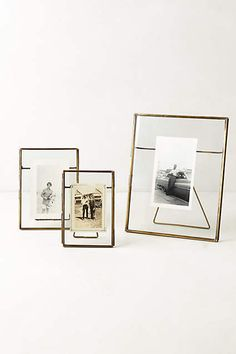 Anthropologie Home Decor: Pressed Glass Photo Frame. Minimalist mixed metal iron and glass home decor. Antique Brass, Nickel, and Copper finishes that fit any home decor style. Decoration Bedroom, Room Decor, Wall Decor, Wall Art, Glass Photo Frames, Small Photo Frames, Gold Photo Frames, Vintage Photo Frames, Home Decoracion