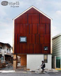 행복이가득한집 Design your lifestyle 빗소리가 들리는 집, '비온후' 30평 작은 땅에 집짓기