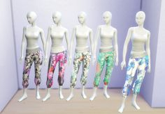 Recolors of EA's Spa Day Sweatpants at Clever simblr via Sims 4 Updates