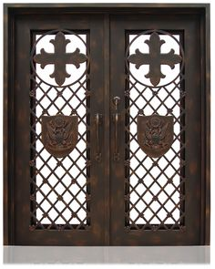 "Iron Collection | 2982  Iron, Hardware: 2.- Flush Bolts with Extension Arms, 2.- Roller Catches, 4.- Casement Latches,  Hinges: 6.- Heavy Duty Hinges,  Exterior Door  Width: 62"" Depth: 1.5"" Height: 77"" Each Door Dimensions: 30.625""x 77"", Jamb Dimensions: 7"" wide x 1.5"" thickness,  *Custom sizes are also available on order. Handles and some custom features are not included, Please request a quote to our sales department.  http://owdmedia.com/wo2982-held-iron.html"
