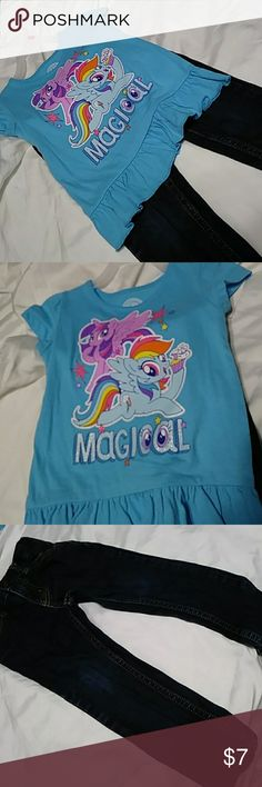 Oshkosh Jeans & My Little Pony Shirt NWT 2T Blue Jeans and shirt NWT 2T.🐰🐰🐰 My Little Pony Matching Sets