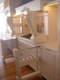 Wow... multiple hidden pullout cabinets