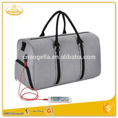 Polyester Weekend Sport Barrel Travel Bag With Shoe Compartment