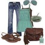 Teal and Fuschia - Polyvore
