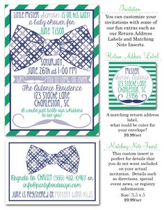 little mister baby shower, boy baby shower ideas, little man baby shower, little man shower invites, baby shower invitations, Party Box Design