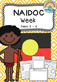 A collection of literacy activities for Year 3 - 6 for NAIDOC WEEK. It is about celebrating the history, culture and achievements of Aboriginal and Torres Strait Islander people. Aboriginal Art For Kids, Aboriginal Education, Indigenous Education, Aboriginal History, Aboriginal Culture, Teaching Activities, Educational Activities, Teaching Kids, Teaching Resources