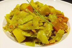 Spitzkohl-Curry, ein raffiniertes Rezept aus der Kategorie Vegetarisch. Bewertungen: 163. Durchschnitt: Ø 4,6.