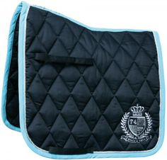 """Harry's Horse contour saddle pad in """"stretch limo"""" which appears to be Navy/Ice/Silver"""