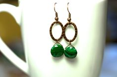 Malachite and Antique Copper earrings by KParDesign, $29.99