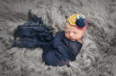 {When Time Flies} mustard aqua navy and hot pink rosette and burlap headband by birdie baby boutique.