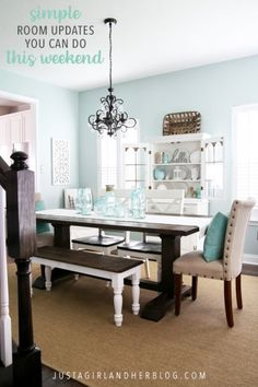 Popular Living Room Paint Colours Luxury top 10 Aqua Paint Colors for Your Home Aqua Paint Colors, Dining Room Paint Colors, Bedroom Paint Colors, Interior Paint Colors, Living Room Paint, Wall Colours, Interior Design, Green Dining Room, Dining Room Walls