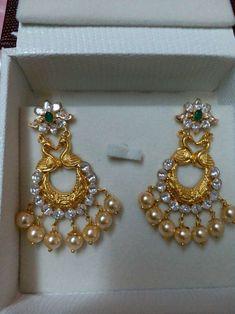 Earrings For Women Beaded Necklace Patterns, Beaded Jewelry Designs, Jewelry Design Earrings, Gold Earrings Designs, Cuff Jewelry, Gold Jewellery Design, Jewelry Patterns, Necklace Designs, Jhumka Designs