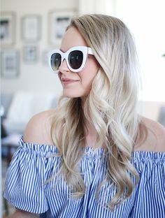 inexpensive retro white sunglasses