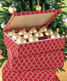 Container Store Ornament Storage Trim The Tree With Efficiency Thanks To This Welldesigned Chest