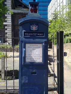 Budget cuts hit the TARDIS design! (Genuine photo from the City of London - a police post box, there's a few of them dotted about!)