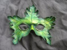 Small Leather Greenman Mask by MummersCat on Etsy, $77.00