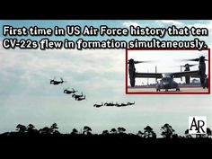 #Video US Air Force: 1st Time in History that 10 Osprey Flew in Formation Simul...