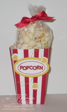 The Stampin' Bunny: Traditional Mini Popcorn Box Holder Stampin' Up!'s new die