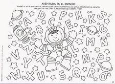 50 atividades com letras do alfabeto para educação infantil - Como Fazer Preschool Coloring Pages, Picture Boards, Seesaw, Sally, Wood Crafts, Cosmos, Album, Activities, Education