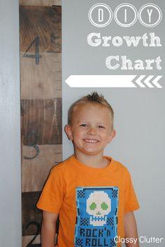 DIY Wooden Growth Chart Tutorial - Classy Clutter