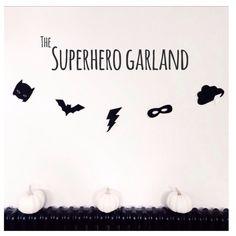 Velveteen Babies Superhero Garland | Scandinavian Minimall