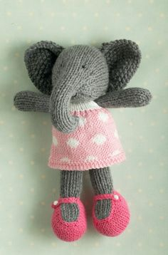 What I would give to have the ability to buy something from little cotton rabbits. She sells out immediately before I get the chance. Crochet Stitches, Knit Crochet, Knitting Patterns, Knitting Toys, Knitting Ideas, Herd Of Elephants, Little Cotton Rabbits, Original Design, Knitted Animals