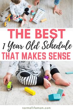 A 1 year old schedule that incorporates your 1 year old's play time, feeding time and sleep time. 1 Year Old Schedule, Baby Food Schedule, Toddler Schedule, Activities For 1 Year Olds, Infant Activities, Montessori Activities, 1 Year Old Meals, Old Halloween Costumes, 1 Year Old Costumes