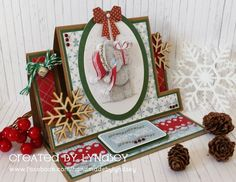 Easel stepper card me to you Christmas 2015 from @trimcraft
