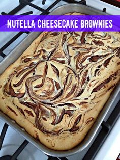 ice cream and french fries: Nutella Cheesecake Brownies
