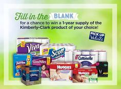 Kimberly-Clark's Pick Up the Values Fill-in-the-Blank to Win Sweepstakes