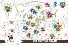 Pocoyo Free Printable Kit.