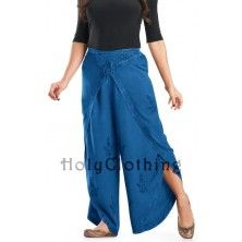 Blue Divine Ciara Wide Leg Elastic Waist Hippie Long Harem Lounge Pants