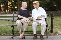 """""""We've been together a long, long time.""""  """"What's your favorite thing about each other?""""  """"Well, he may not be able to understand you too well right now, but he's a sweet old bird yet."""" — at Washington Square Park."""