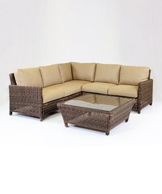 Love this Del Ray Sectional Set by South Sea Rattan Collections on #zulily! #zulilyfinds