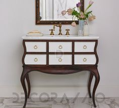 #bathroom #furniture #interior #design тумба под умывальник Ambellahome Sink Chests Large, 06803-110-401