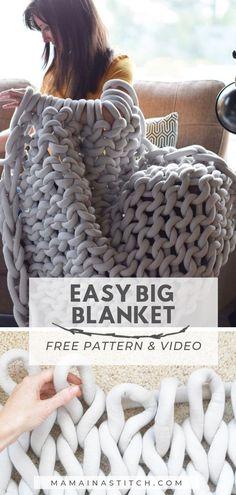 Big Yarn Blanket, Large Knit Blanket, Chunky Blanket, Chunky Yarn, Chunky Knits, Blanket Ladder, Extreme Knitting, Big Knits, Knitted Blankets