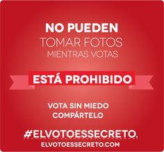 MITO #7: CUALQUIERA PODRÍA TOMARME UNA FOTO MIENTRAS VOTO, PUDIENDO INFERIR POR CUAL CANDIDATO VOTÉ, POR LA POSICIÓN DE MI MANO:  El CNE prohíbe tomar fotografías dentro de los centros de votación.  Los ciudadanos pueden denunciar estas irregularidades a los efectivos del Plan República.