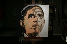 Obama - Painting, Leland Sharp - is available for sale 48 x 48 Acrylic $2,500.00