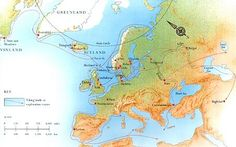 norse mythology map | Norse Myths mainly took place in Northern Europe.
