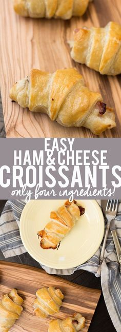 These Easy Ham and Cheese Croissants only use four ingredients and can be made in about 20 minutes! Using ham, Gruyère and puff pastry, they are delicious for breakfast, lunch or dinner. Great for using up leftover ham from the holidays! #ad @fred_meyer
