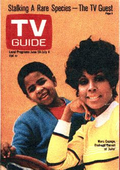 "Old TV Guide Cover ""Julia"" -70's show 1st one with a Black Leading star."