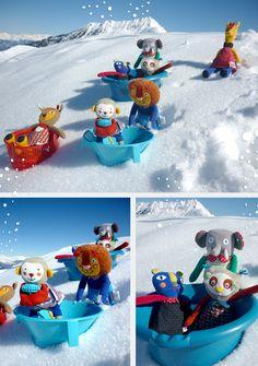 Les Popipop de retour de vacances à la neige
