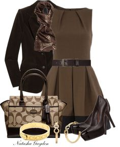 """Chocolate and Coach"" by natasha-gayden on Polyvore"