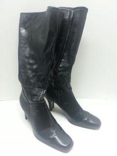 womens  Size 8.5 Black Faux Leather Vegan Tall Knee-High Boots New #KarenScott #FashionKneeHigh