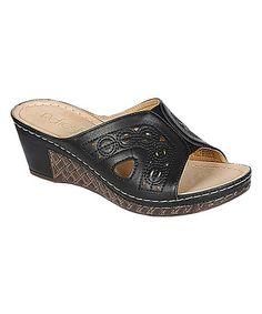 Look what I found on #zulily! Black Walnut Slide Sandal #zulilyfinds