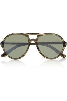 Tom Ford Jasper aviator-style acetate sunglasses    THE OUTNET
