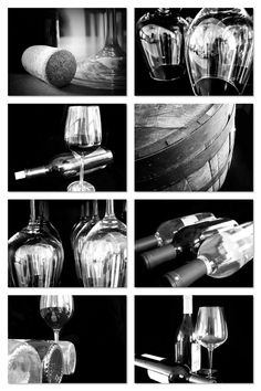 Restaurant Kitchen Photography wine photography, set of 8 5x7 or 8x10 prints, wine print set