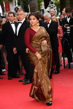 Vidya Balan in Sabyasachi Saree at Cannes Film Festival 2013