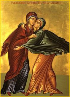 At the sound of Mary's voice, Elizabeth and Zechariah's baby jumped in Elizabeth's womb.