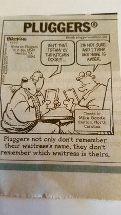 Pluggers comic from Kenosha News December, 10th 2016